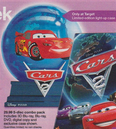 Blu Ray Dvd Exclusives Cars 2 Target Exclusive Light Up Globe 3d Bd