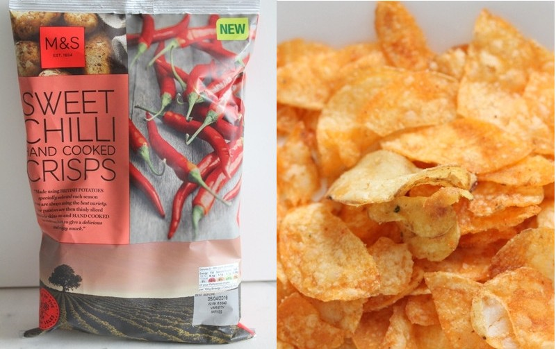 Marks and Spencer sweet chilli hand cooked crisps potato chips