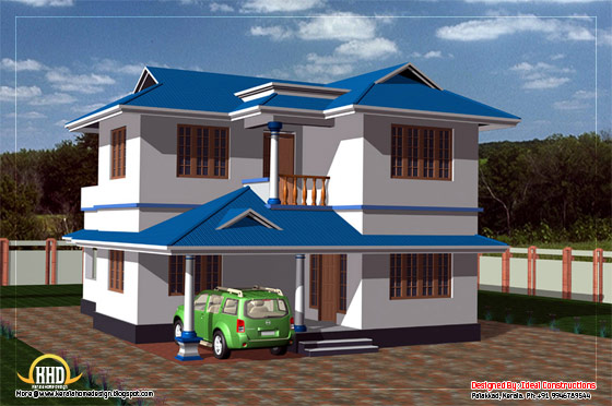 Duplex house elevation - 135 square meters (1450 Sq. Ft.) - February 2012