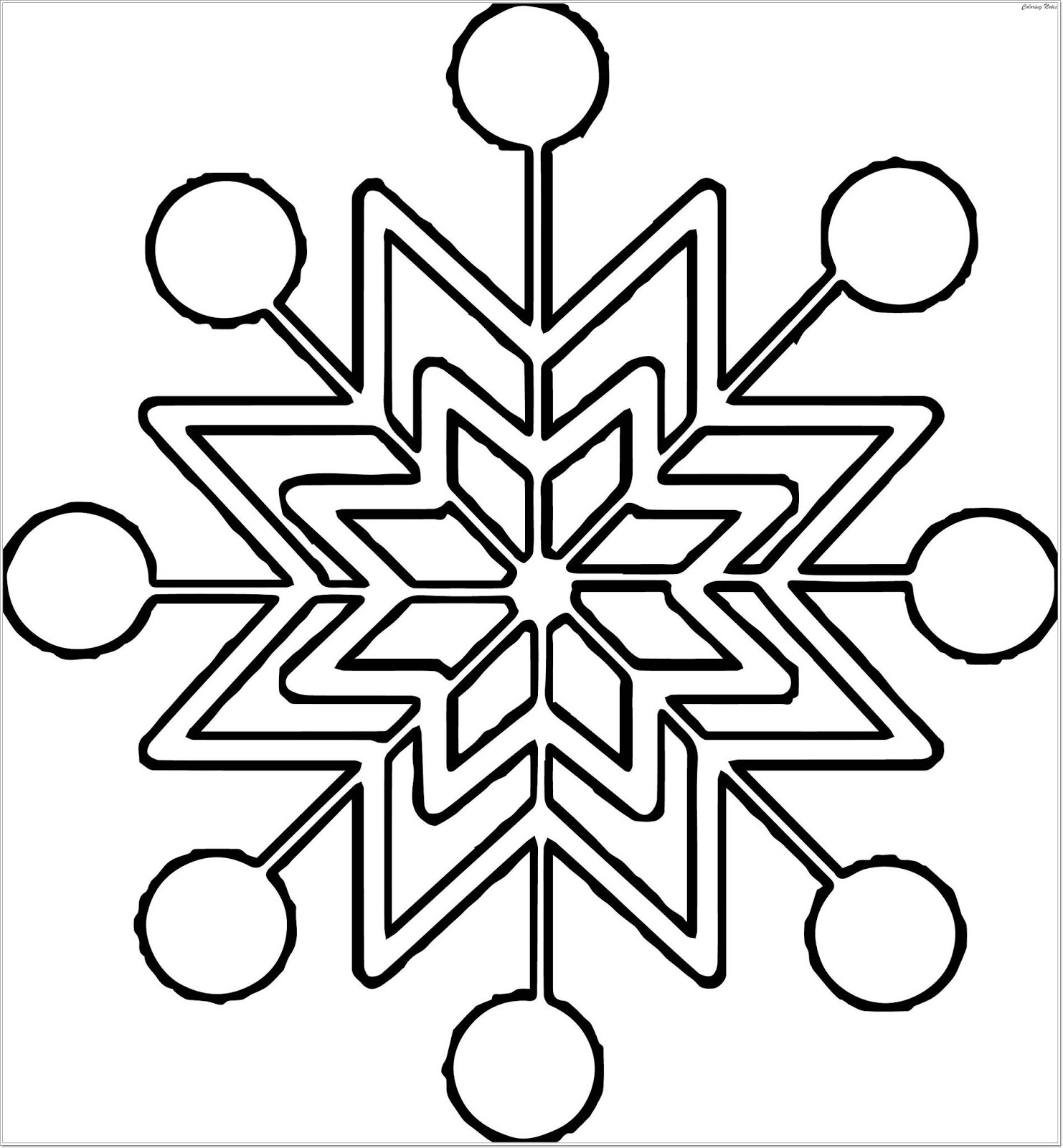 Top 25 Winter Snowflake Coloring Pages Easy Free And