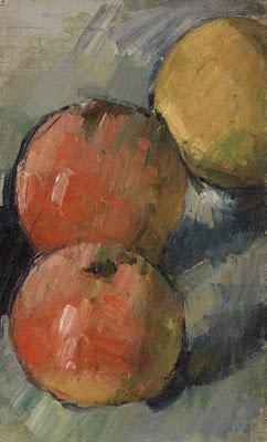 Paul Cezanne - deux pommes et demie,1878-1879.