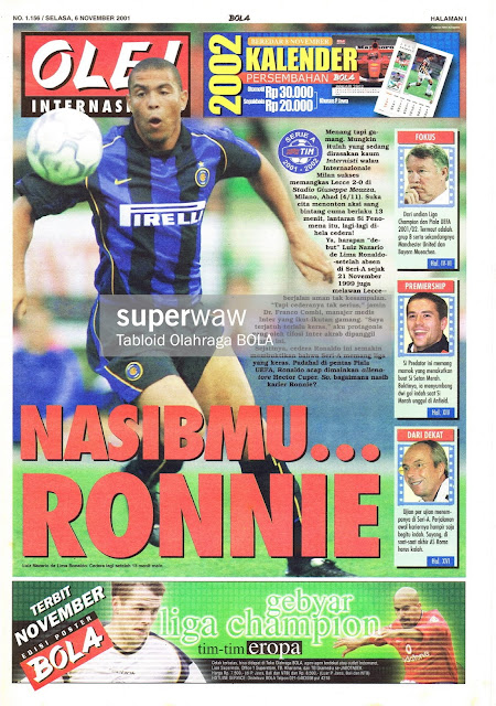 RONALDO RONNIE INTER MILAN 2001