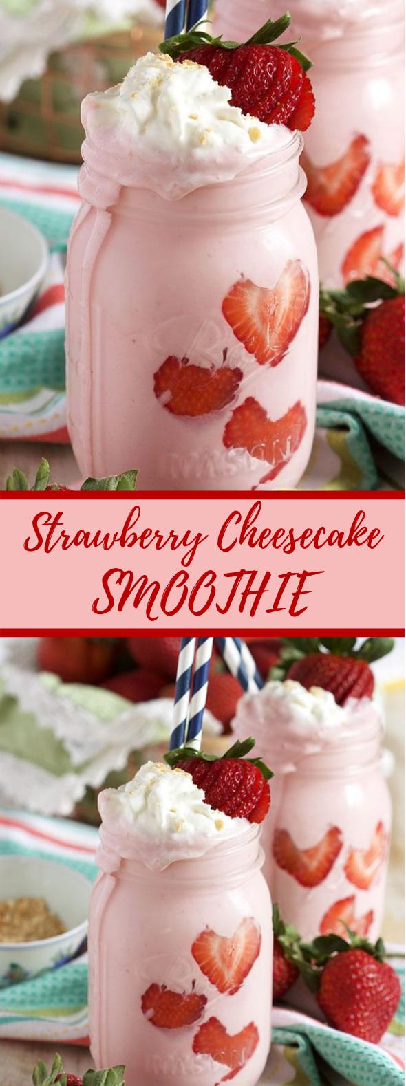 STRAWBERRY CHEESECAKE SMOOTHIE #sweet #smoothies