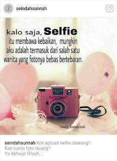 Untukmu sadara/saudariku yang masih suka selfie