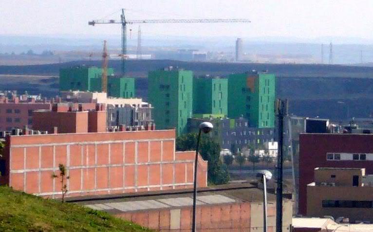 Bloques edificios verdes