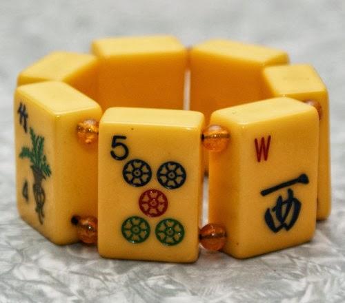 bakelite mah jong bracelet
