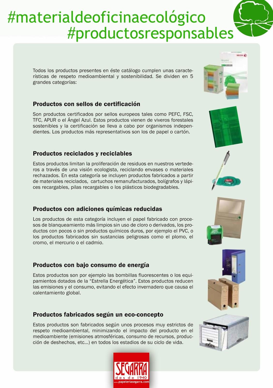 Material de oficina ecol gico for Productos de oficina