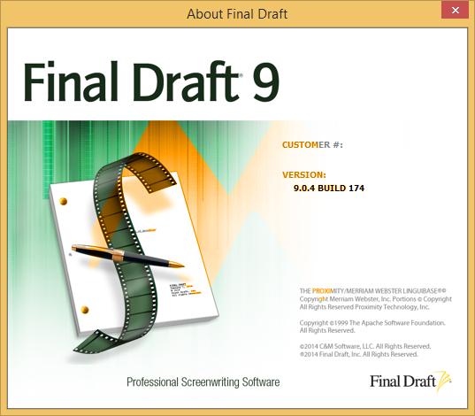 Final Draft 9.0.4