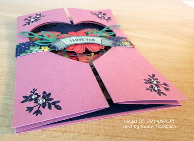 Gate Fold card with a heart opening