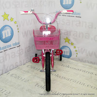 16 Inch United My Music Kids Bike Red Pink