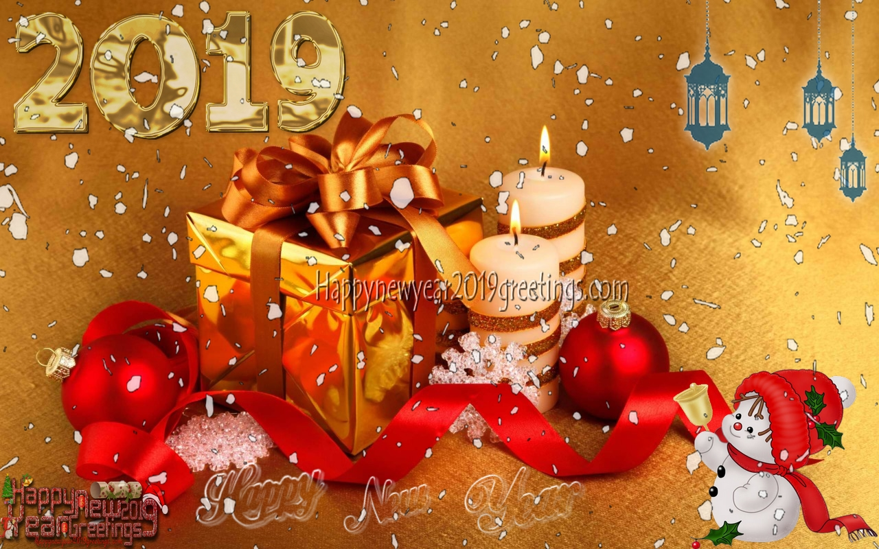 Happy New Year 2019 Full HD Desktop Wallpapers Download Free - New ...