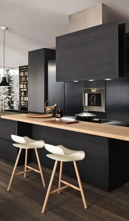 Absolutely Charming Black Kitchen