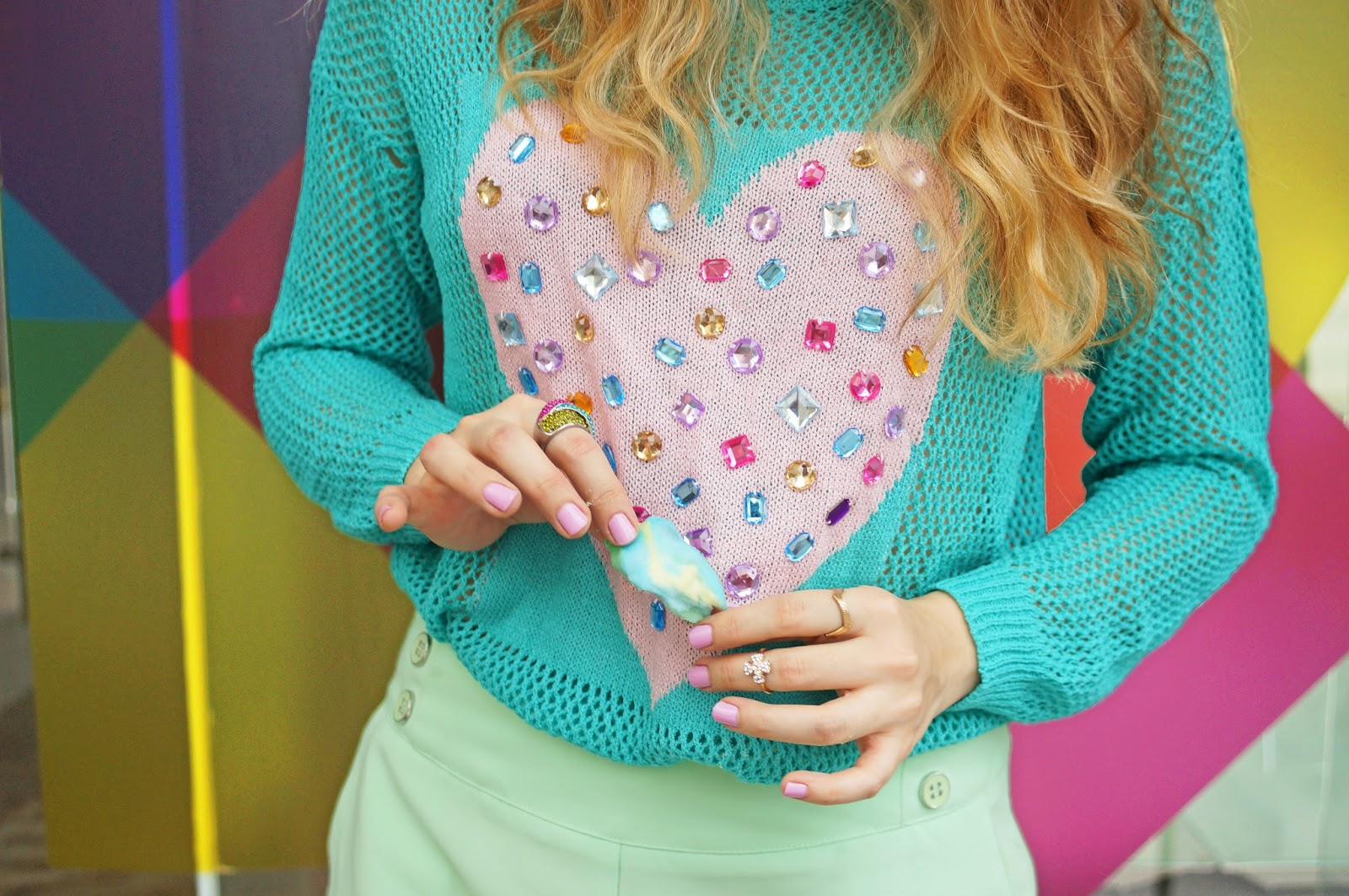 This heart sweater is all kinds of adorable!