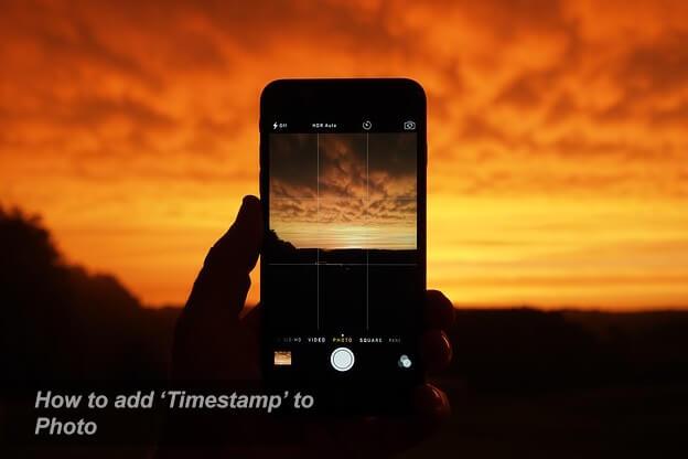 memberi waktu pada foto