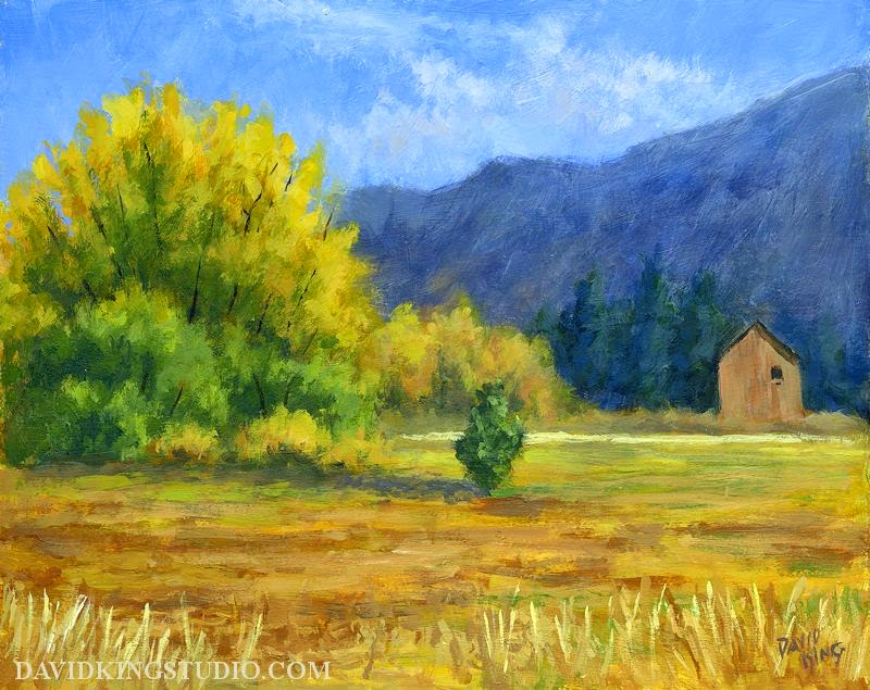 art painting landscape rural autumn nature fall foliage