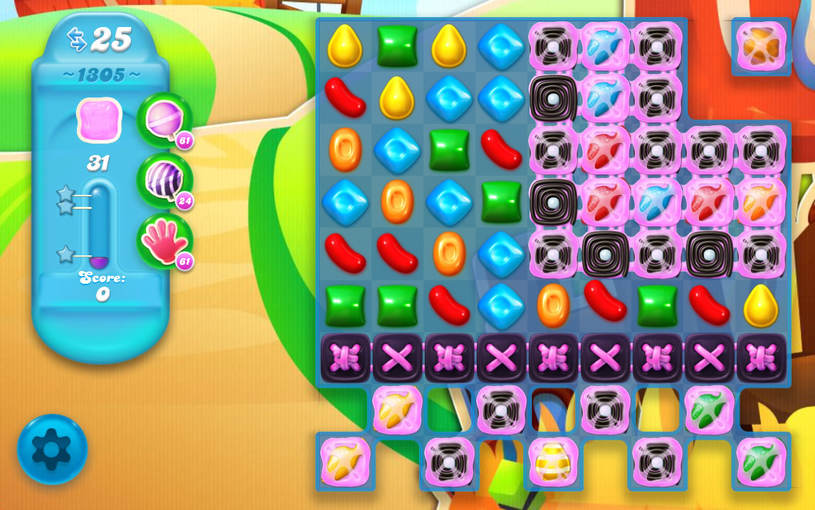 Candy Crush Soda Saga level 1305