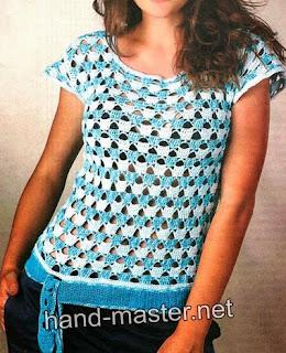 http://patronesgratisdetejido.blogspot.com.ar/2014/12/divina-y-juvenil-blusa-al-crochet.html