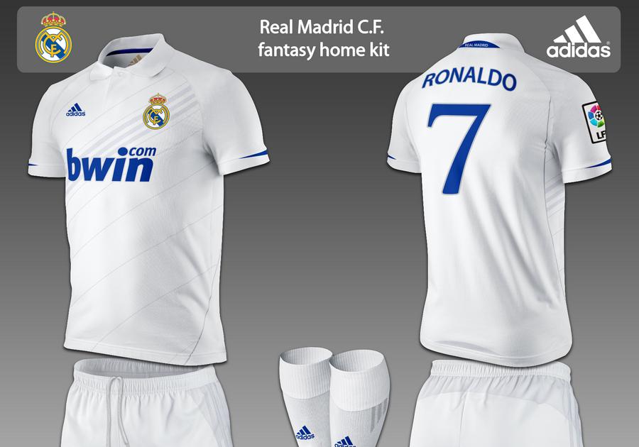 Football Kits Design: Real Madrid Fantasy Kits