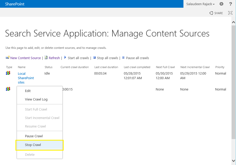 SharePoint Full Crawl Stuck? Force Stop SharePoint Search Crawl