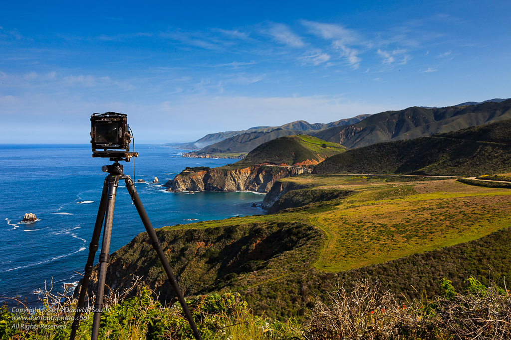 a photo of a view camera at hurricane point big sur