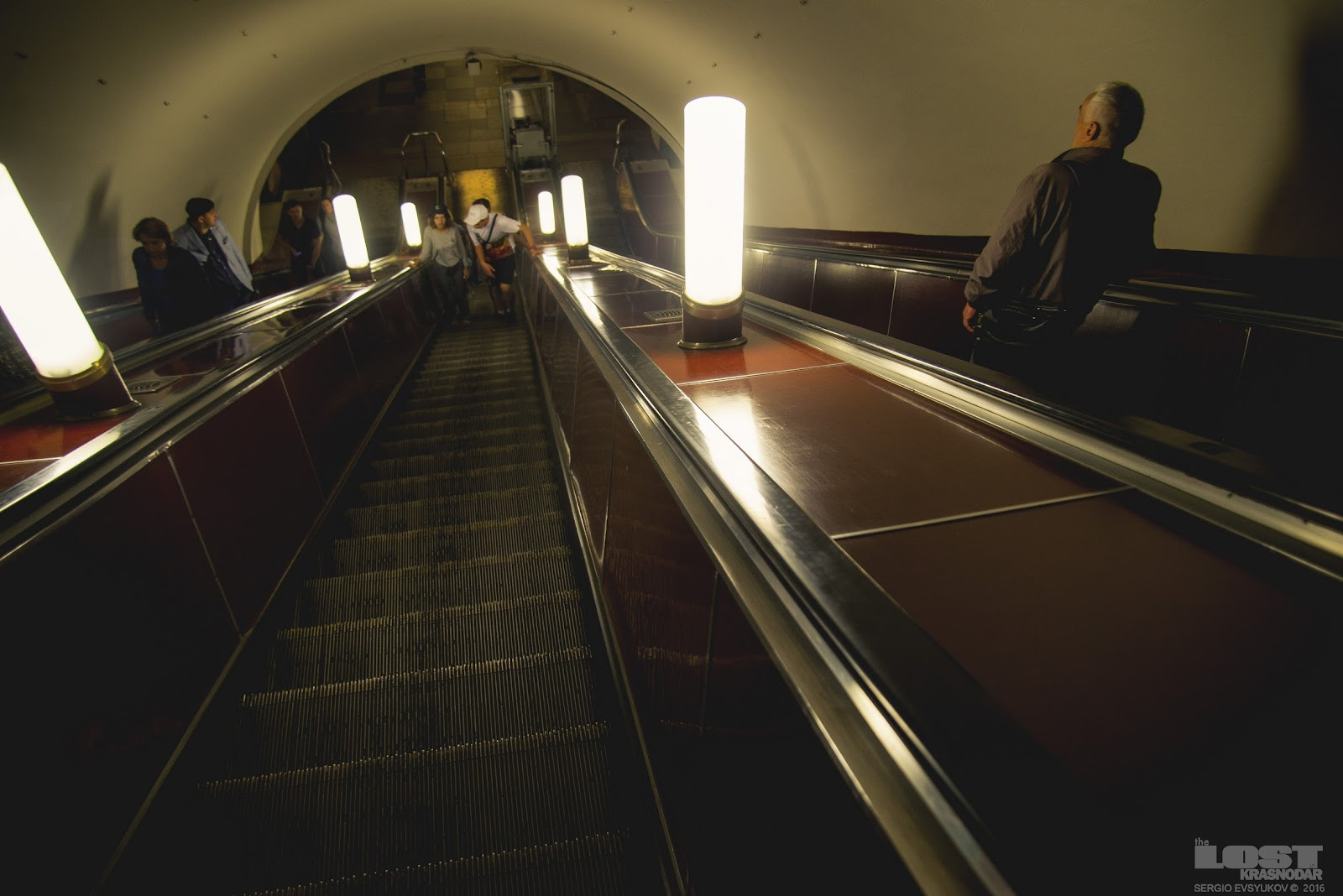 L'escalator de la station Moscou
