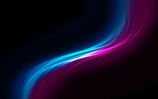 Abstracte gekleurde blauwe en roze lijnen