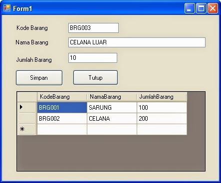 Cara Input Ke Database Dengan VB Net