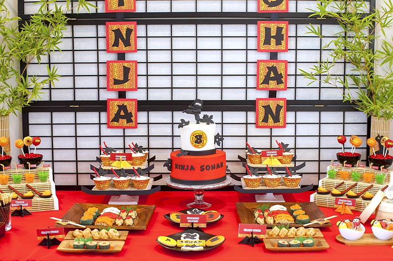Ninja Japanese Birthday Party Ideas & Printables - via BirdsParty.com