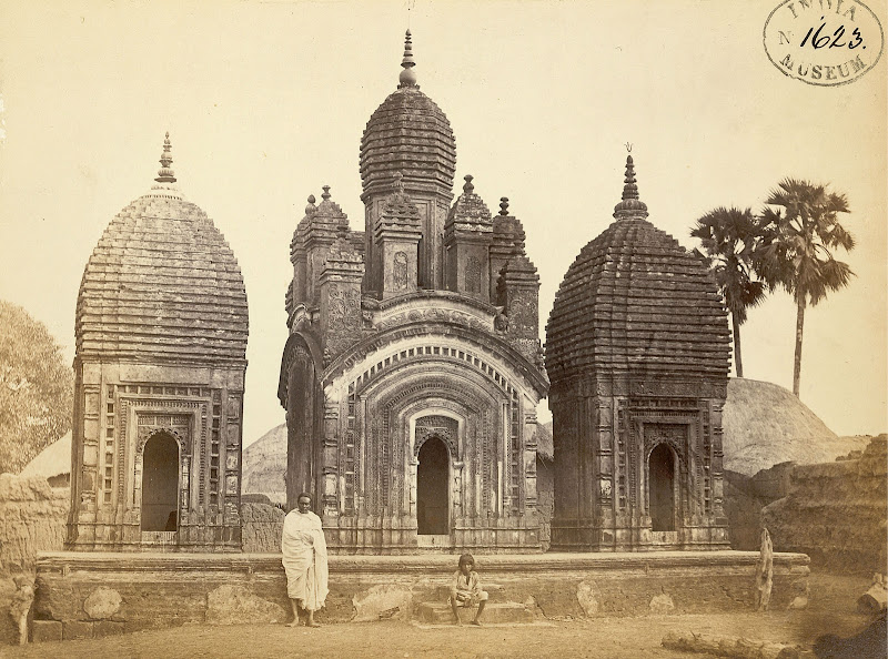 Three Shiva Temples in Dubrajpur, Birbhum District, Bengal - 1870