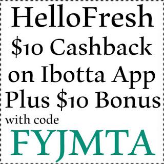 $10 HelloFresh Cashback through ebates Jan, Feb, March, April, May, June, July, Aug, Sep, Oct, Nov, Dec