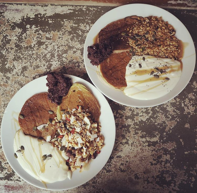Superfood granola pancakes at Foodstory Aberdeen
