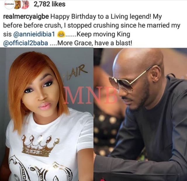 Single Mom Actress MERCY AIGBE Crushes On Tuface, Tuface Wife Keeps Watching