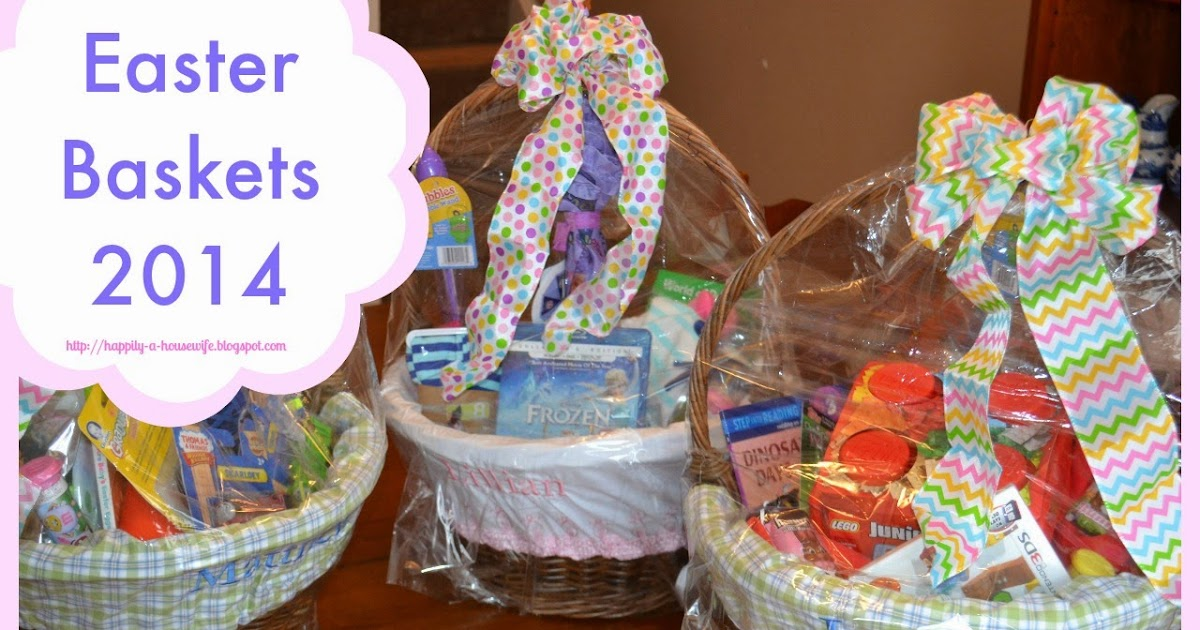 Happily A Housewife 2014 Easter Baskets