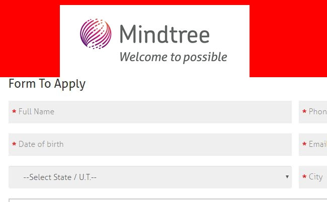 Mindtree Freshers Offcampus Recruitment Drive Chennai