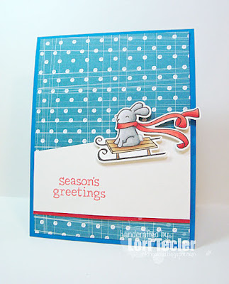 Snowy Season's Greetings card-designed by Lori Tecler/Inking Aloud-stamps and dies from Lawn Fawn