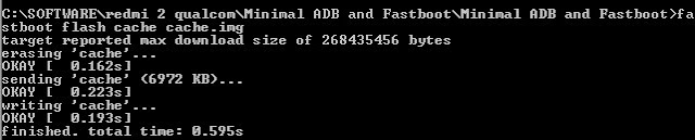 fastboot flash cache cache.img