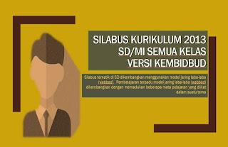 Download Silabus K13 SD/MI Kelas 1, 2, 3, 4, 5, dan 6