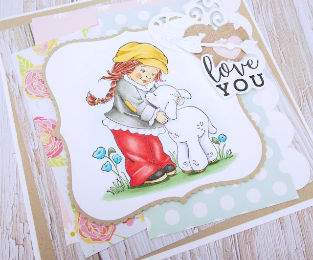 Heather's Hobbie Haven - Lamb Hugs Card Kit