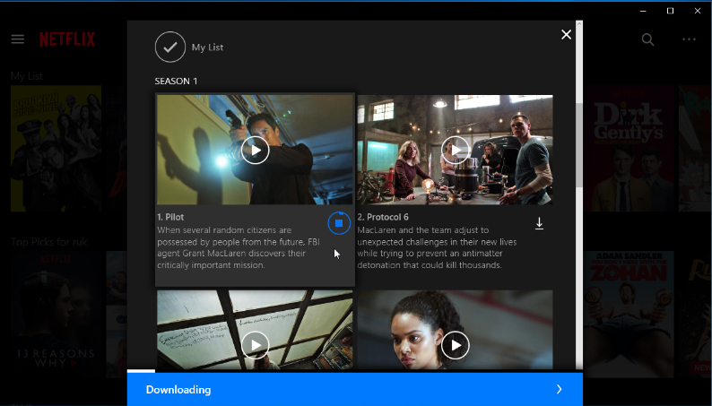 how to download shows on netflix on windows 10