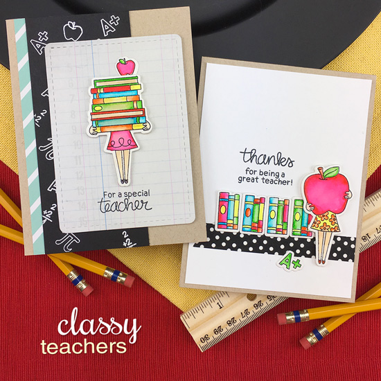Teacher Cards by Jennifer Jackson | Classy Teachers Stamp Set by Newton's Nook Designs #newtonsnook #handmade #teachercards
