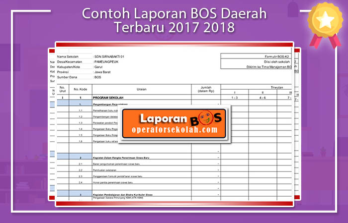 Contoh Laporan BOS 2017 SMK