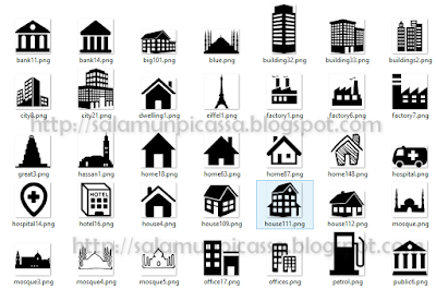 200 free buildings icons set vector for your design