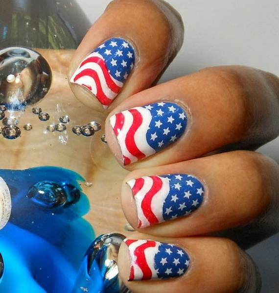 simple 4th of july nail art