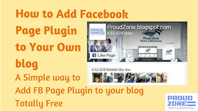 How to add Facebook page plugin to blog