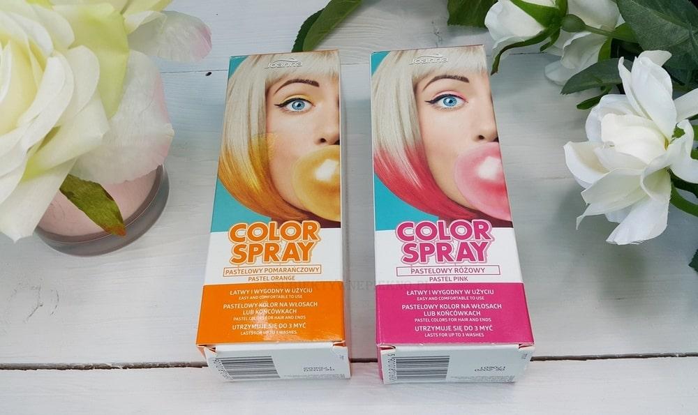 Joanna Color Spray - pastelowy róż i pomarańcz | Efekty na włosach blond