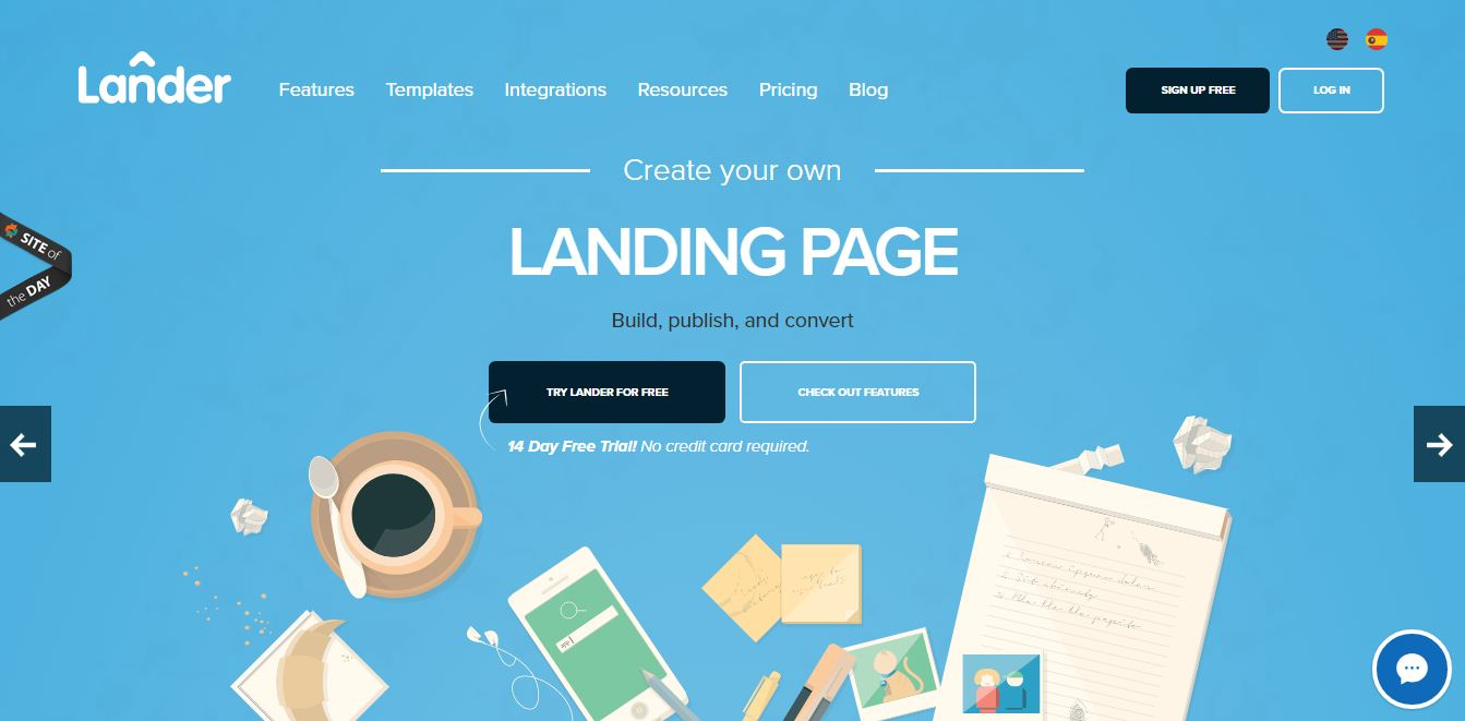 top 10 tools that help you to create landing pages for your blog