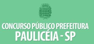Fazer Inscrição 2017 Prefeitura Paulicéia Concurso Vagas