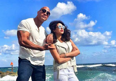Priyanka Chopra, Dwayne Johnson, Baywatch, Baywatch movie, priyanka in Baywatch movie, Priyanka with Dwayne Johnson