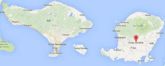 Bali and Lombok Island in Indonesia