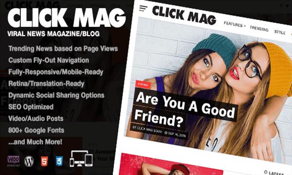 قالب  Click Mag أفضل قوالب الووردبريس